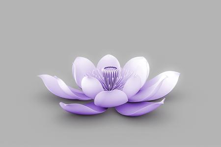 Lotus Flower In Chakra Color Purple