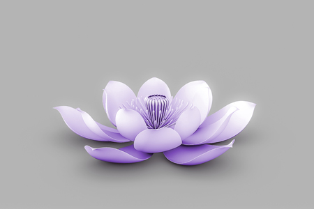 tantra: Lotus Flower In Chakra Color Purple