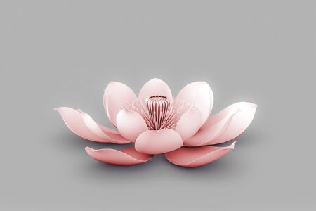 Lotus Flower In Chakra Color Red