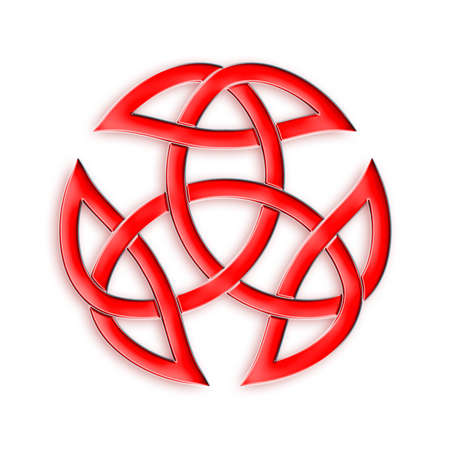 symbolical: Red Trinity Knot Stock Photo