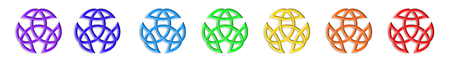 trinity: Trinity Knot Chakra Colors Stock Photo