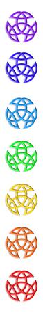 Trinity Knot Chakra Colors Standard-Bild