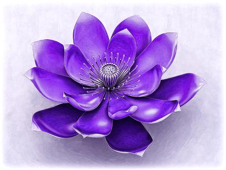 Lotus Flower With Chakra Color Purple Standard-Bild