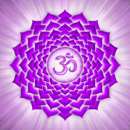 prana: Crown Chakra Stock Photo