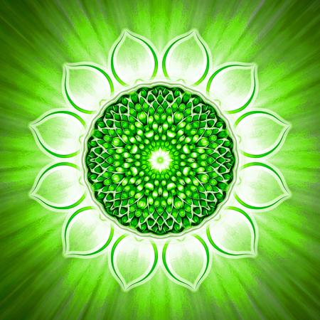 prana: Open Heart Chakra Stock Photo