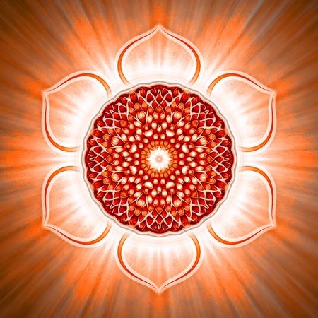 Open Sacral Chakra Standard-Bild
