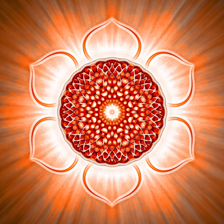 sacral: Open Sacral Chakra Stock Photo