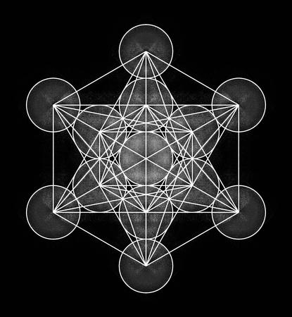Metatron's Cube Icon Archivio Fotografico