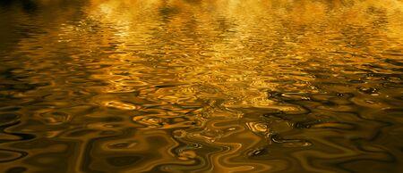 Golden Water Standard-Bild