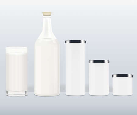 Milk bottle Illustration