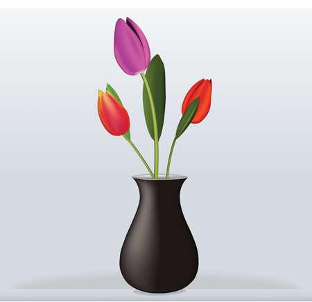 Vase tulip interior