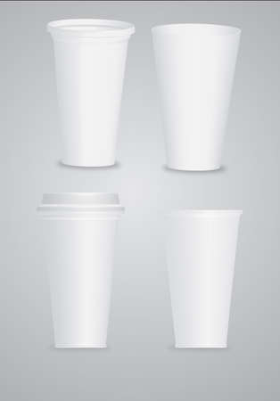 polystyrene: illustration white cup