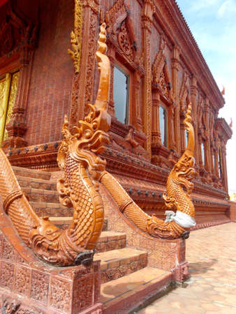 Ancient naga in thai temple