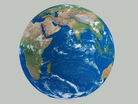 いくつかの雲の HD と地球