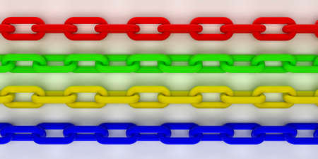 Colorful gold and black 3d chain  Computer render  photo
