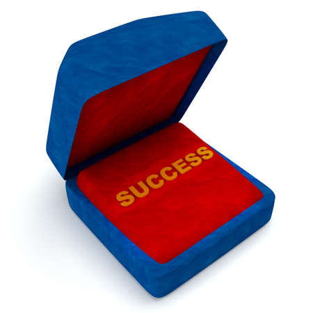 Gift box for success  on the white background photo