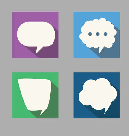 Set of speech flat design style Vector