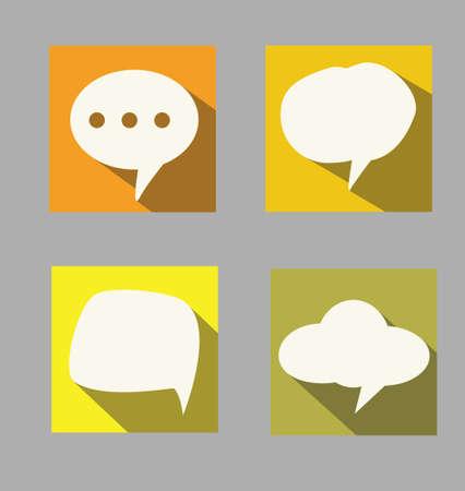 converse: Satz von Sprech-flaches Design Stil Illustration