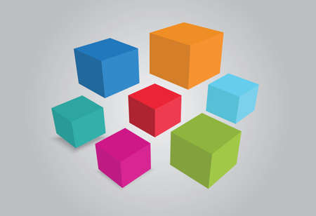 geometric Isolated Objects Stock Photo