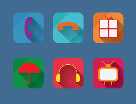 Vector illustration of flat life style icons Vector