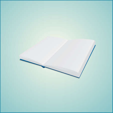 open spread of book with blank  pages Stock Vector - 23657266