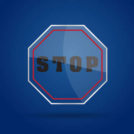 Stop Glass Icon  Vector illustration  Eps10  Vector