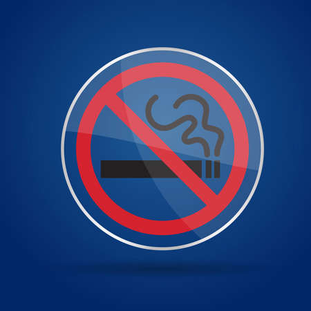 No Smoking Glass background  Vector illustration  Eps10  Vector