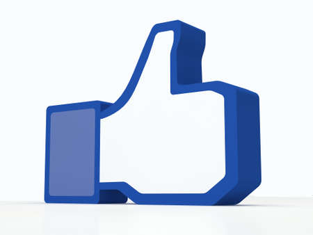 ソーシャル メディアの facebook のような親指