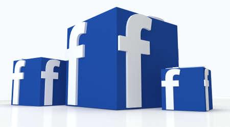 ソーシャル メディアの facebook 親指箱のような私たちのアイコンの兆候として