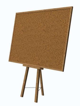 Empty blank cork board