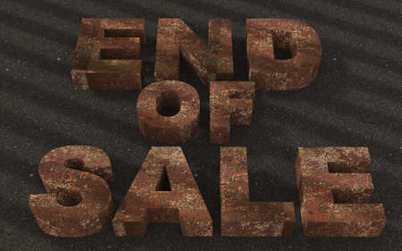 Text end of sale Rusted Metal  photo