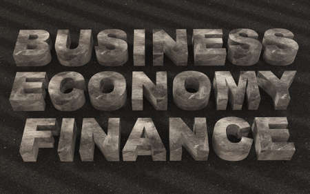 patronize: Text business finance  metal texture Stock Photo