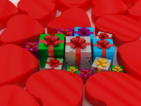 Heart and Gift Box for Celebrations photo