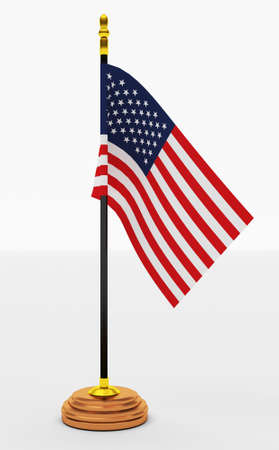 american election: American Flag  office  on White Backgrounds Stock Photo