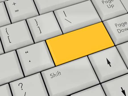 Laptop Keyboard With gold Enter Key photo