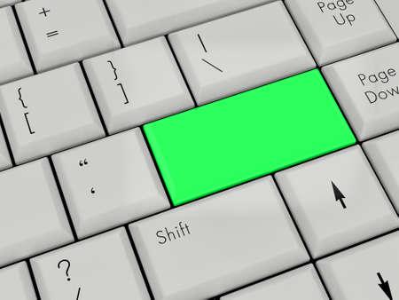 Laptop Keyboard With green Enter Key photo