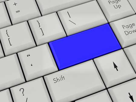 Laptop Keyboard With blue Enter Key photo