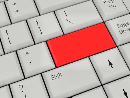 Laptop Keyboard With red Enter Key photo