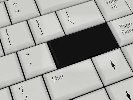 Laptop Keyboard black Enter Key photo