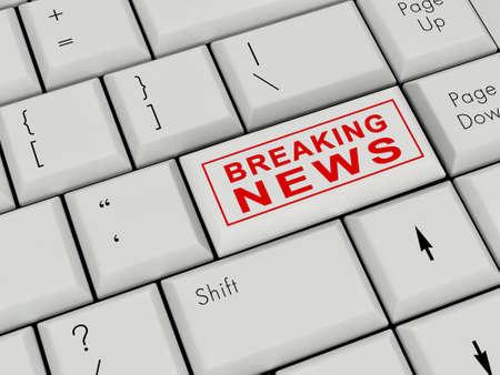 Laptop Keyboard  Breaking news  Enter Key photo