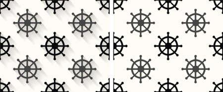 beach hut: Retro-Styled  pattern with  High Resolution JPG Illustration