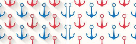 beach hut: Seamless Anchor pattern with  High Resolution JPG Illustration