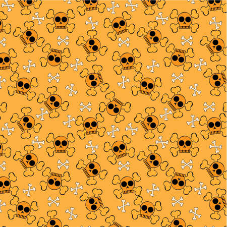 cartoon Halloween   pattern Vector