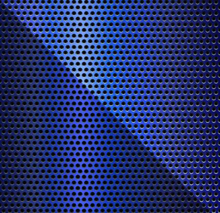 metallic: Blauwe Metaal achtergrond - Illustratie