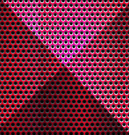 metallic background: Red Metallic background - Illustration