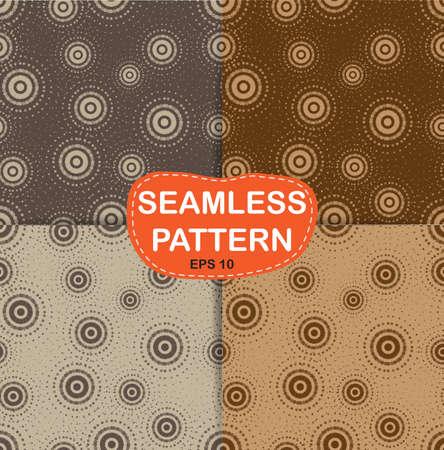 Set seamless pattern  Halftone Design Element, illustration Illustration