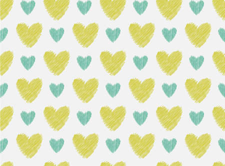 seamless pattern abstract Hearts, illustration