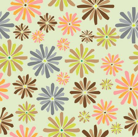 Seamless pattern flowers, illustration Illustration