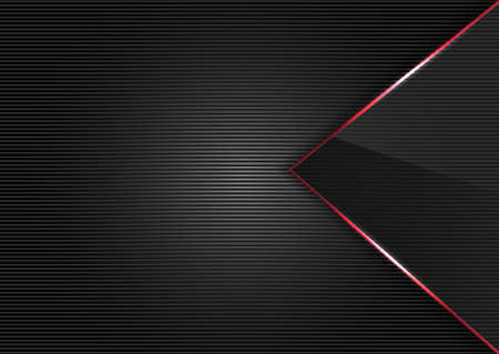 Black Metal And glass abstract background style Vector
