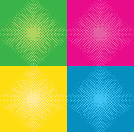 Abstract color halftone background  vector illustration. Vector